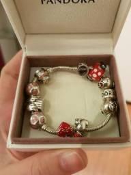 Bracelete pandora com 10 charms