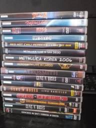 Lote DVD rock Guns N Roses, Aerosmith, Metallica, Kiss
