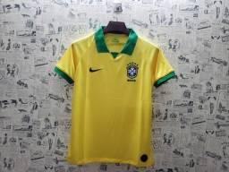 Camisa Seleção Brasileira Amarela Home 2019