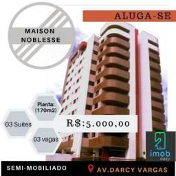 Alugo Maison Noblesse 4 suites nascente, semi-mobiliado (aceitamos cartão)