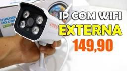 Câmera IP Segurança Externa Infravermelho - HD - Fazemos Entregas