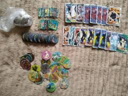 Lote de itens de 100 + Elma Chips tazos e cards