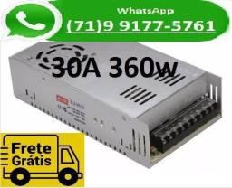 Fonte Chaveada Transformador 110v -220v Para 12v 30a 12 Volts 30 Amperes (NOVO), usado comprar usado  Salvador