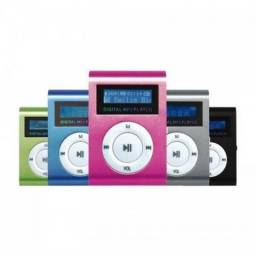 Mp3 Player Mini Shuflle Radio Fm Visor Lcd Entrada Micro Sd