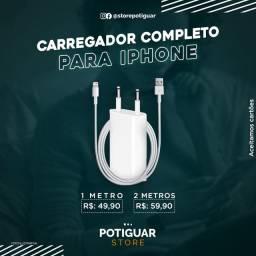 CARREGADOR COMPLETO IPHONE