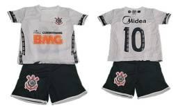 Título do anúncio: Uniforme Futebol Infantil Lançamento Lindos Palmeiras São Paulo Corinthians Santos