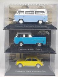 Miniaturas kit 2 Kombi + Fusca escala 1:43