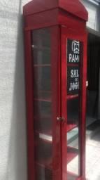 Expositor vitrine balcão barbearia salao de beleza  armario