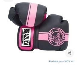 Luva de Muay thai rosa