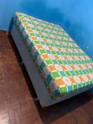Título do anúncio: Cama box de casal com colchão usada apenas 2 meses!