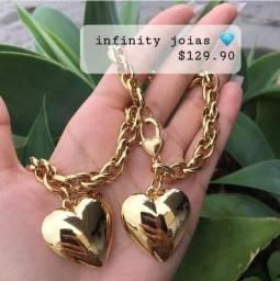 Título do anúncio: Conjunto colar e pulseira disponível $130