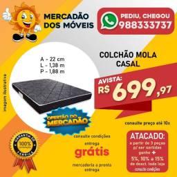 Colchão Casal Mola Em Oferta (Entrega Grátis)