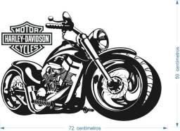 Adesivo de Parede Moto Harley Chopper 72cm x 50 cm Gigante