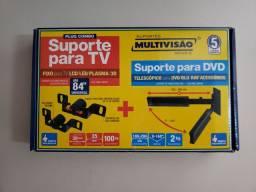 Suporte para TV + suporte para DVD