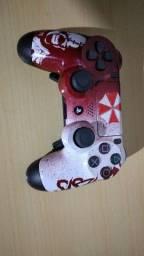 Controle ps4 com pintura +controll freek+grip+trigger stop