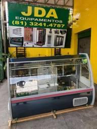 Balcão refrigerado para carnes em inox - supermercado / açougue  - gelopar