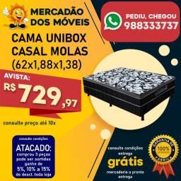 Cama Unibox Casal Molas (Entrega Grátis)