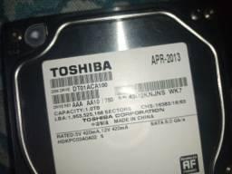 HD Toshiba 1tb 7200 rpm semi novo
