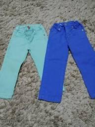 Calças coloridas 12 a 18 meses