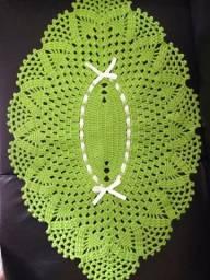Tapetes artesanais de crochê