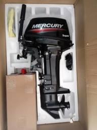 Motor de pôpa Mercury Super 15/18 HP zero na caixa + 5 brindes