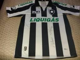 5fb75d5c3e Camisa Botafogo 2009 - tamanho M - autografada pelo Jefferson