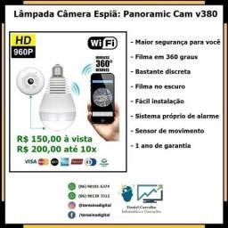 Lâmpada Câmera Espiã 360°