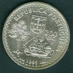 Portugal 200 escudos moeda comemorativa Solor e timor leste - 1995 VF