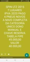 Spin LTZ 2015 7 lugares IPVA pago 2020 - 2015