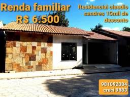 Casa em residencial Claudio sanders
