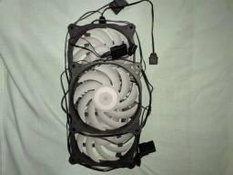 Kit com 3 fans RGB ASYNC