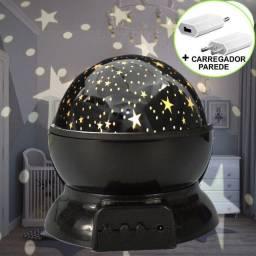 Luminária Infantil Projetor de Estrelas-(Lojas Wiki)