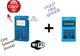 Máquina De Cartão Mercado Pago Point Mini Chip + Brinde Point Mini