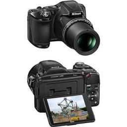 Câmera Digital Semi-profissional Nikon Coolpix L830 com 16MP Zoom ótico de 34x Preta