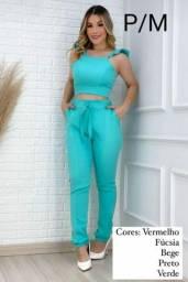 Título do anúncio: Conjunto cropped e calça