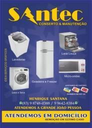 Santecmanutenções conserto em máquinas de lavar - geladeiras - freezer's e micro-ondas