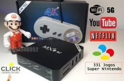 Tv Box Gamer, +311 Jogos Nintendo + 2 controles, ganhe um lindo boneco