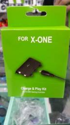 Kit Bateria + Carregador P/ Controle Xbox One Recarregavel