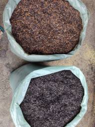 Casca de arroz torrada