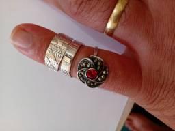 Lote 3 anel de prata Favor ler descrição