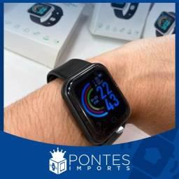 Relógio smartwatch d20 + pulseira extra e pelicula