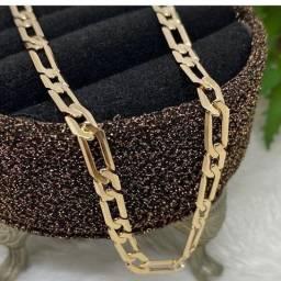 Cordão Masculino Banhado a Ouro 18k com Elos Diamantados da marca Rommanel