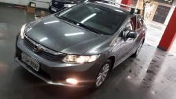 Honda Civic LXS 1.8 Aut 2012/2013 Cinza 2° Dono