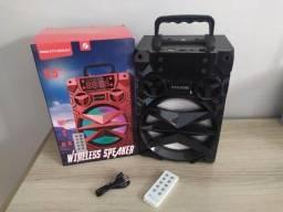 Título do anúncio: Caixa de som Big Sound KTS-909B - Potente - Muito Boa
