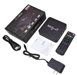 TV Box 8Gb de memória Ram e 64gb de memória interna