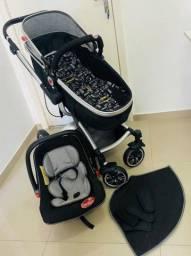 O Carrinho de bebê maravilhoso 3 em 1, giro 360, Moisés e bebê conforto