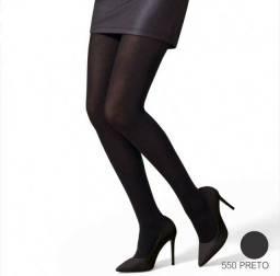 Meia calça selene opaca preta elastano