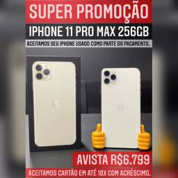 iPhone 11 Pro max 256gb seminovo, aceitamos seu iPhone usado como parte do pagamento.