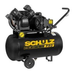 Título do anúncio: compressor de ar 10 pes 50/100 litros schulz portatil