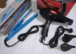 Secador de cabelo + prancha titaniun